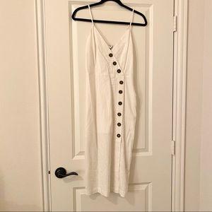 Woven button-down maxi/midi dress